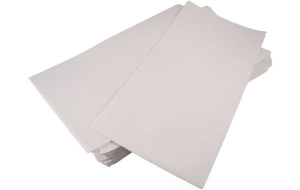 White Embossed Paper Disposable Tablecloths