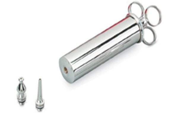 Stainless Steel 4oz Aural Syringe with 2 Nozzles