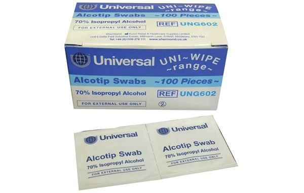 Sterile Pre-Injection Swabs