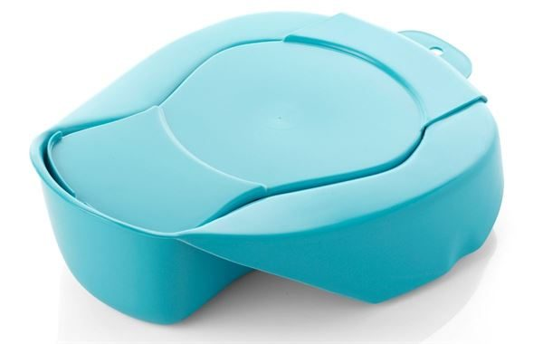Plastic Vector Sanitary Bed Pan With Lid