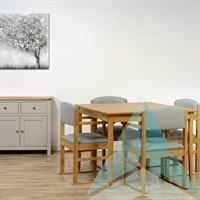 Hadley Dining Chair with Skis in Zest Dove