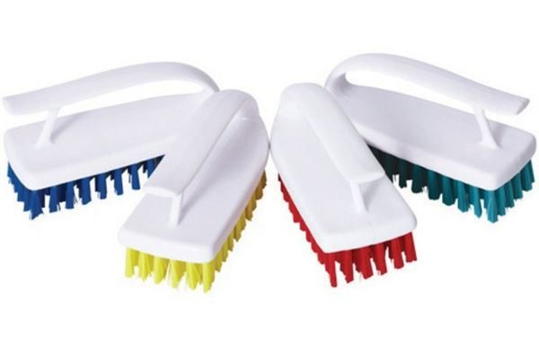 Hand Held Scrubbing Brush, Assorted Colours