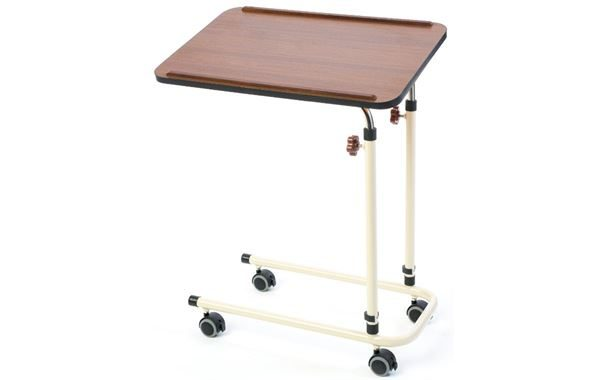 Alerta Overbed Table, With Castors, Walnut
