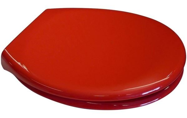 Red Soft Close Toilet Seat