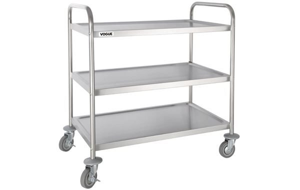 Three Tier Trolley, Stainless Steel Shelves