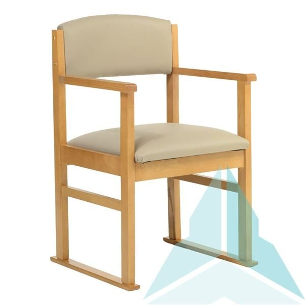Hadley Dining Chair with Skis in Zest Putty