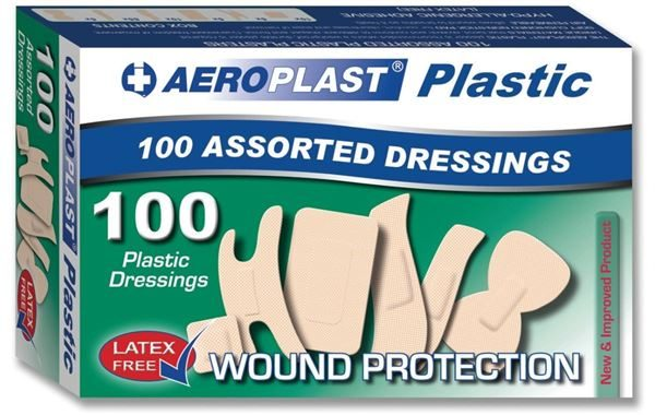 Assorted Washproof Plasters, 6 Sizes