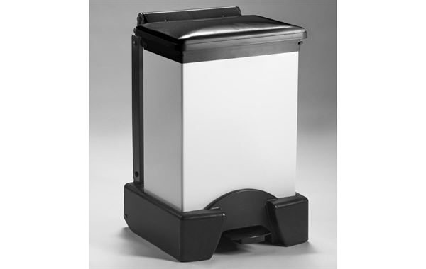 45 Litre Fixed Body Sack Holder, White Body with Black Lid
