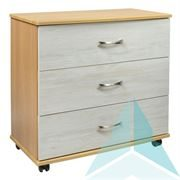 Argyle 3 Drawer Chest with Light Artwood fronts