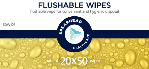 Flushable care home wipes