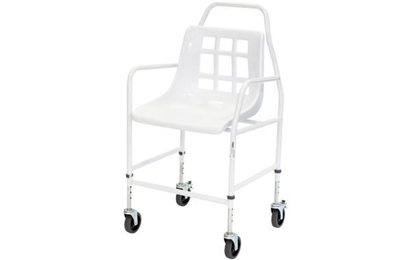 Alerta Mobile Shower Chair, Adjustable Height