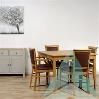 Kinley Dining Chair with Skis in Zest Mushroom