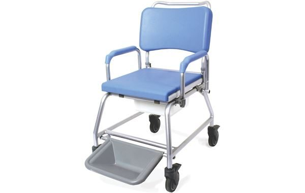 """Atlantic Commode Shower Chair 22"""" Wide, With Footrest"""