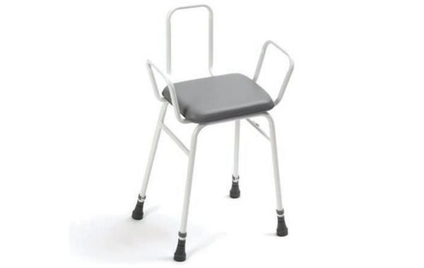 Perch Stool With Arms & Back