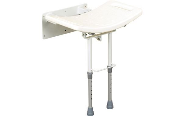 Wall Fixing Shower Seat With Drop Down Leg