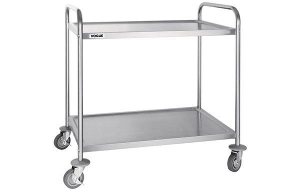Two Tier Trolley, Stainless Steel Shelves