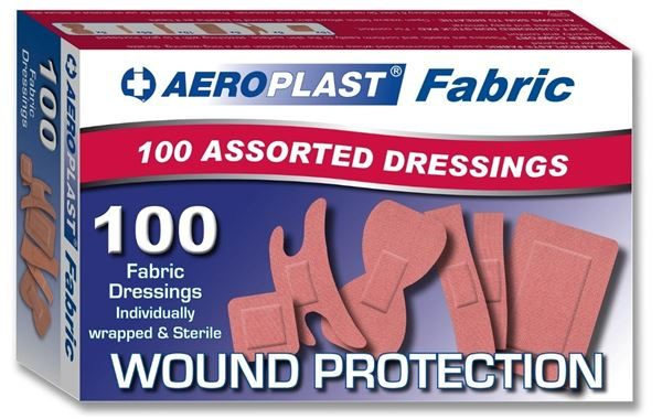 Assorted Fabric Plasters, 6 Sizes